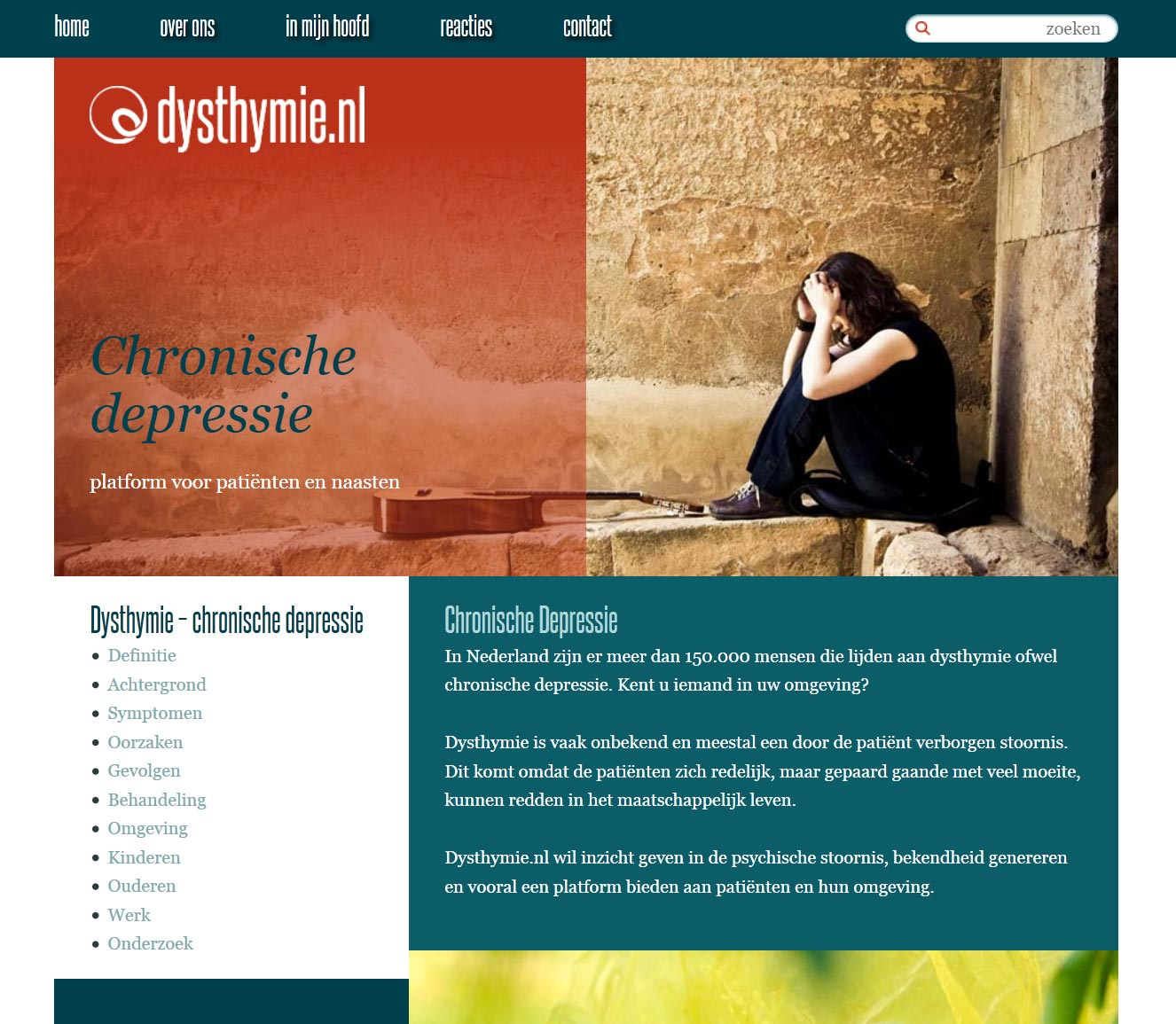 WordPress website dysthymie.nl