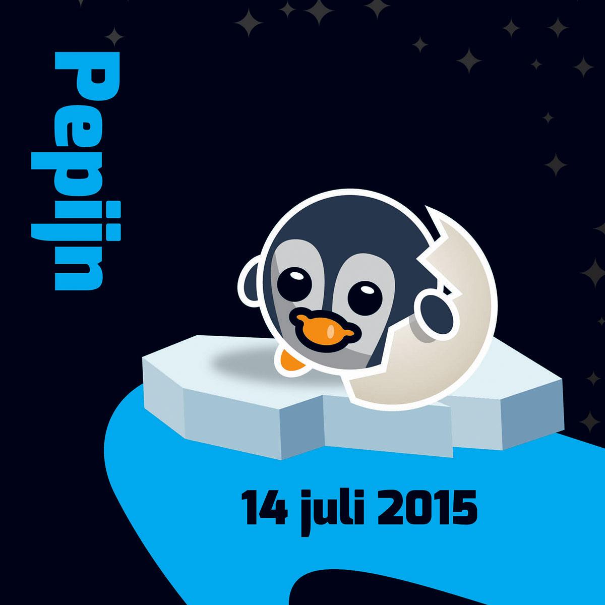 uniek ontwerp voor het geboortekaartje van Pepijn