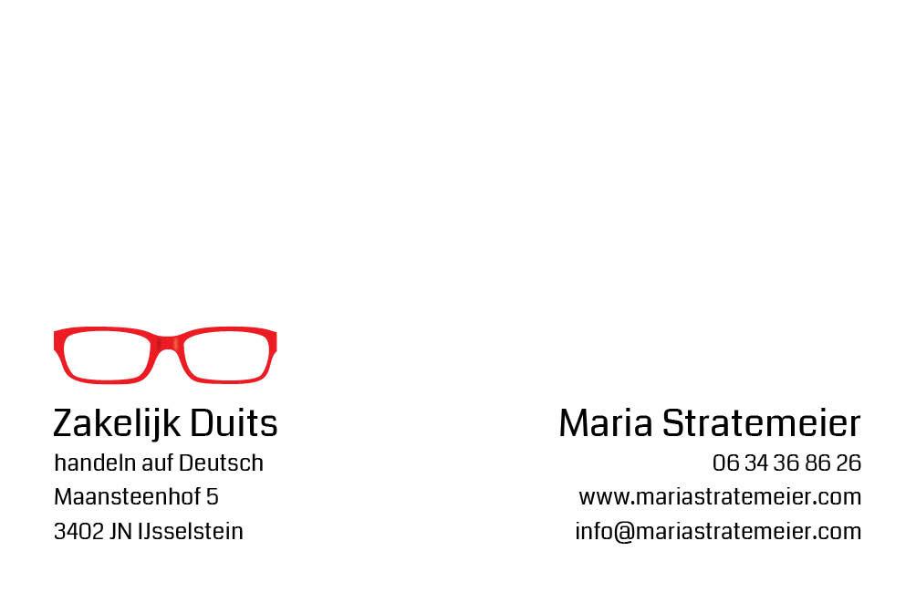 ontwerp visitekaartje Zakelijk Duits
