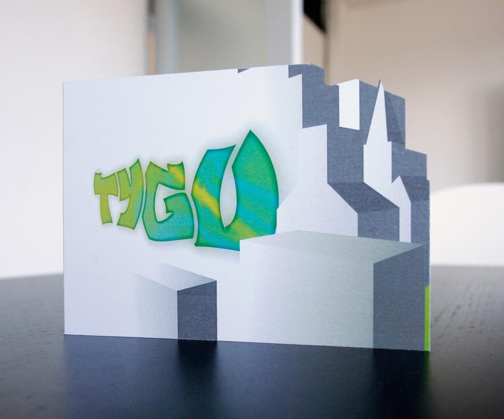 monster-illustratie: geboortekaartje Tygo