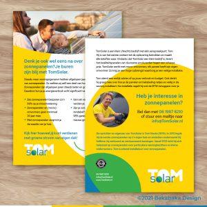 TomSolar flyer: de achterzijde van deze zonnige flyer